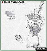 ECLATE G - PIECE N° 00 - ECLATE PIECES CYLINDRES ET CULASSE - TWINCAM 99/17