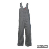 SALOPETTE - DICKIES - BIB OVERALL - HICKORY STRIPE - JEANS - COULEUR : RAYE BLEU - TAILLE US 42/32