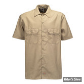 CHEMISE - DICKIES - 1574 - SHORT SLEEVE WORK SHIRT - COULEUR : KAKI