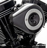 - FILTRE A AIR - S&S - STEALTH - TOURING 02/07 / SOFTAIL 01/15 / DYNA 04/17 - TEARDROP AIR CLEANER KIT - CARBONE