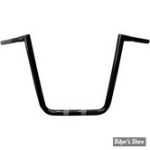 "GUIDON APEHANGER - 32MM INTÉGRAL - 1 1/4"" - GUIDON L.A CHOPPERS - BIG TWIN PEAKS HEFTY - HAUTEUR : 16"" - NOIR"