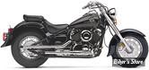 """SILENCIEUX COBRA - SLASH CUT 2"""" - YAMAHA 650 XVS DRAG STAR / VSTAR 04/11 - CHROME"""