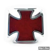 FEU ARRIERE CHOPPER / HOT ROD - MALTESE - Cross Billet - Rouge