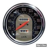 COMPTEUR - FAT BOB - RAPPORT : 2.24:1 - EN MPH -  62/67 Electra Face - EN Miles/H - Noir/Doré