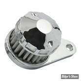 FILTRE RENIFLARD DE CARTER MOTEUR - CRANKCASE BREATHER FILTER - AVEC SUPPORT - CHROME