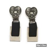 CLIPS DE PANTALON - RYDER CLIPS - HEART / SKULL