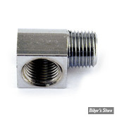 ECLATE K - PIECE N° 05 - Raccord de mano de pression d huile / DURITE POMPE A HUILE - OEM 26338-68A - 1/8-27 NPT - 90° - chrome