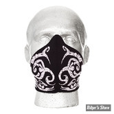 MASQUE - BANDERO - BANDERO FACE MASK - POUR FEMME / LADIES - TRIBAL FLAMES - WHITE