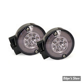 CLIGNOTANT FL01/13 / SOFTAIL FL 99/13 - AVANT - LED - RINGERS LED TURN SIGNALS - DOUBLE FILAMENT - CORPS : NOIR / CABOCHON : FUME