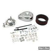 SS - KIT FILTRE A AIR SS - TEARDROP - SPORTSTER 04/06 - AVEC CARBURATEUR S&S E OU G - CHROME