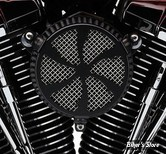 FILTRE A AIR COBRA - TOURING 08/16 / SOFTAIL 16/17 / DYNA FXDLS 16/17 - NAKED - SWEPT - NOIR