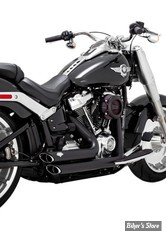 ECHAPPEMENTS VANCE & HINES - SHORTSHOTS STAGGERED - SOFTAIL FXBR ET FLFB 18UP - NOIR - 47235