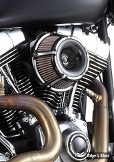 - FILTRE A AIR - ARLEN NESS - TOURING 02/07 / SOFTAIL 01/15 / DYNA 04/17 / TWINCAM CARBU CV 99/06 - INVERTED AIR CLEANER KIT - SLOT TRACK - NOIR ANODISEE - 18-923