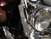 PARE BRISE NATIONAL CYCLE - KIT DE MONTAGE SPÉCIFIQUE - QUICKSET 4 - FLHR - FINITION : CHROME