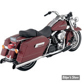 SILENCIEUX DRAG SPECIALTIES / PYTHON - TOURING 95UP - SLASH CUT - BACKSLASH - CHROME