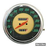 COMPTEUR - FAT BOB - RAPPORT : 1:1 - EN KM/H - 48/61 FACE PANHEAD - STEWART-WARNER