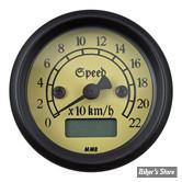 - Mini Compteur Electronique MMB Classic - Fond ivoire - corps noir / entourage Noir