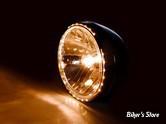 "7"" - PHARE RENO II - MCS - AVEC OPTIQUE PRISMIC ET ECLAIRAGE LED PERIPHERIQUE - NOIR"