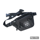 SAC BANANE - WEST COAST CHOPPERS - WCC - WAISTBAG BLACK - COULEUR : NOIR