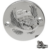 CACHE ALLUMAGE POUR MILWAUKEE-EIGHT® 17UP - LIVE TO RIDE - CHROME