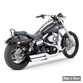 SILENCIEUX VANCE & HINES TWIN SLASH - FXDF 08UP / FXDWG10UP - CHROME - 16845