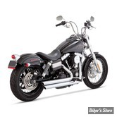 Echappements Vance & Hines - BigShots STAGGERED - Dyna 06/17 - Chrome - 17938
