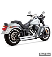ECHAPPEMENTS VANCE & HINES - BIGSHOTS STAGGERED - SOFTAIL 86/17 - CHROME - 17939