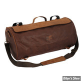SAC - LONGRIDE - ROLLER BAG - WAXED COTTON - MARRON