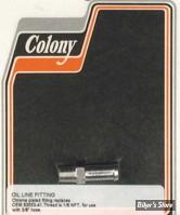 ECLATE K - PIECE N° 11 - Raccord d huile 1/8-27 NPT - droit - OEM 63533-41A - chrome - COLONY - LA PIECE