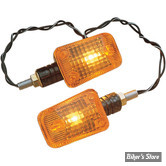 CLIGNOTANTS K&S TECHNOLOGIES INC.- UNIVERSAL MINI-STALK MARKER LIGHT - RECTANGLE - CORPS: NOIR / CABOCHON : ORANGE