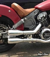 SILENCIEUX - INDIAN SCOUT 15UP - TRASK - SLIP-ON INDIAN SCOUT - CHROME - TM-3042CH