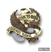 "EMBLEME AIGLE ""LIVE TO RIDE"" ADHESIF - 80mm"