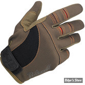 GANTS - BILTWELL - MOTO - COULEUR : MARRON / ORANGE