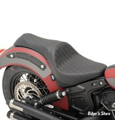 SELLE DRAG SPECIALTIES - INDIAN SCOUT / SIXTY 15UP - CABALLERO SEAT - DIAMOND STITCH / NOIR