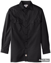 CHEMISE MANCHES LONGUES - CARHARTT - TWILL LONG SLEEVES WORK SHIRT - COULEUR : NOIR - TAILLE XL