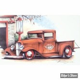 """POSTER - AFFICHE - BRENT GILL - EDITION LIMITEE - 1932 FORD TRUCK - DIMENSION : 16"""" X 10"""" (40.64 CM X 25.40 CM)"""