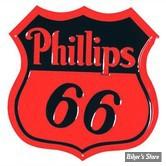 PLAQUE MURALE - PHILLIPS 66 SHIELD - DIMENSION : 35.56 CM X 35.56 CM