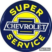 PLAQUE MURALE - CHEVY SUPER SERVICE- # 61 CM