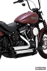 ECHAPPEMENTS VANCE & HINES - SHORTSHOTS STAGGERED - SOFTAIL 18up FXBB/ FXLR/ FXFB/ FLSL/ FLHC/ FLDE / FLSB - CHROME - 17233