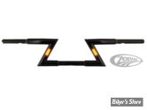 "GUIDON Z-BAR STYLE - BEEFY Z-BARS WITH BUILT-IN LED LIGHTS - AVEC ECLAIRAGE - ZODIAC - HAUTEUR : 6"" - NOIR BRILLANT"