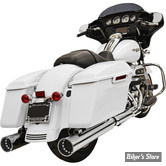 """SILENCIEUX - BASSANI - TOURING 17UP MILWAUKEE-EIGHT® - MUFFLERS STRAIGHT 4"""" CAN DNT® - CORPS : CHROME / EMBOUTS : CHROME"""