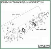 ECLATE G - PIECE N° 00 - ECLATE DES PIECES D'ETRIER DE FREIN AVANT FX / FXWG / FXR & SPORTSTER 77/83