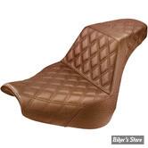 SELLE DUO - SOFTAIL FXBR / FXBRS 18UP - SADDLEMEN - STEP-UP SEAT - FULL LATTICE STITCH - MARRON