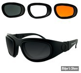 LUNETTES CONVERTIBLES - BOBSTER - SPORT AND STREET II - VERRES : FUME/ORANGE/CLAIR - MONTURE : NOIR