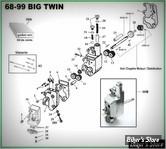 ECLATE K - PIECE N° 00 - ECLATE PIECES DE POMPE A HUILE - BIGTWIN 68/99