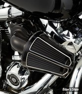 KIT FILTRE A AIR A.NESS - SOFTAIL 18UP / TOURING 17UP - MONSTER SUCKER AIR CLEANER - BEVELED - NOIR - 81-036