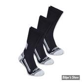 CHAUSSETTES - CARHARTT - FORCE PERF. WORK CREW SOCKS - COULEUR : BLACK / NOIR (3PR)