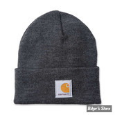 BONNET - CARHARTT - RIB KNIT BEANIE WATCH - COULEUR : COAL HEATHER / CHARBON CHINÉ - TU