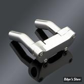 RISERS ET POTENCE - OEM STYLE - Custom Chrome - Courbe 10cm