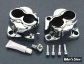 ECLATE H - PIECE N° 02 - Couvres embases de poussoirs - BigTwin Evolution 84/99 - Chrome